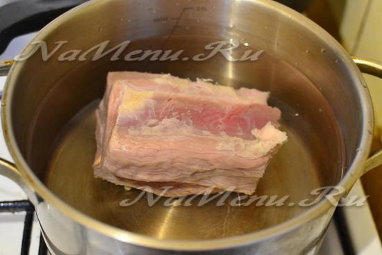сварить бульон из мяса