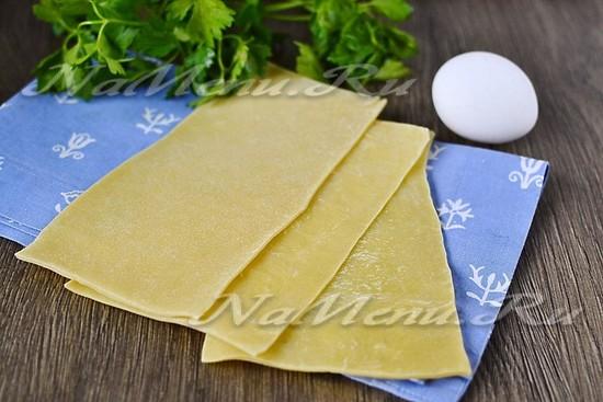 Рецепт как приготовить листы для лазаньи