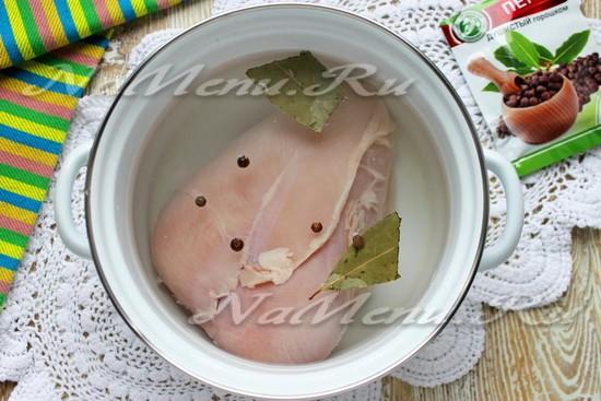 Отварить мясо