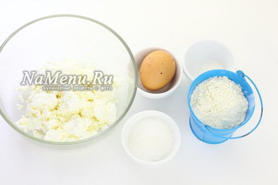 Ингредиенты для приготовления творожных палочек