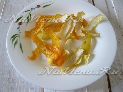 Просушим цедру апельсина