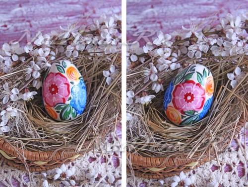 Роспись пасхальных яиц из дерева готова