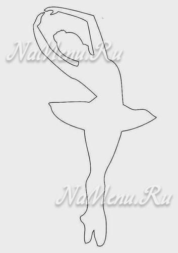 Балерина из бумаги шаблоны для вырезания распечатать