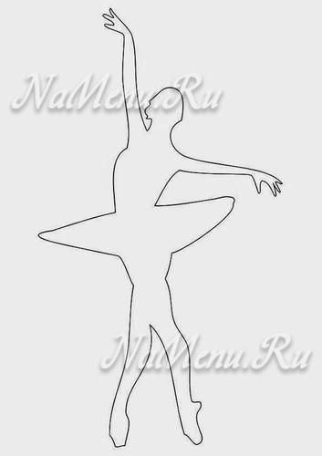Шаблоны для вырезания балеринки из бумаги