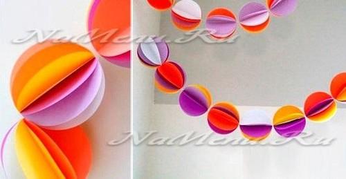 Новогодние шары из бумаги своими руками, пошаговая инструкция