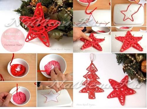 игрушки на елку из ниток