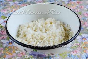 Наполовину сварить рис