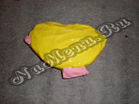 Укрываем пасхального цыпленка глазурью