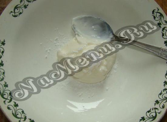 Ряженка с сахаром