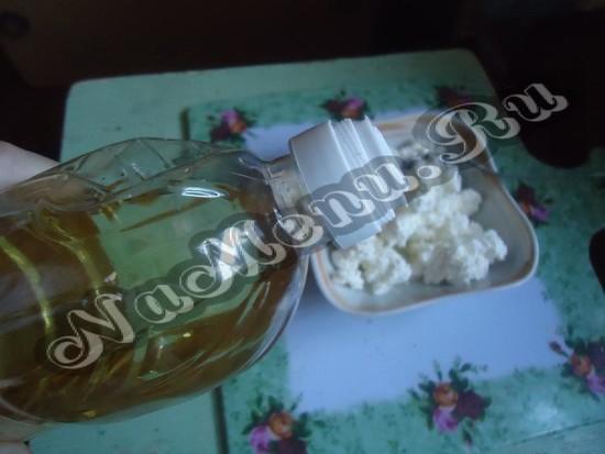 Втирание подсолнечного масла по каплям