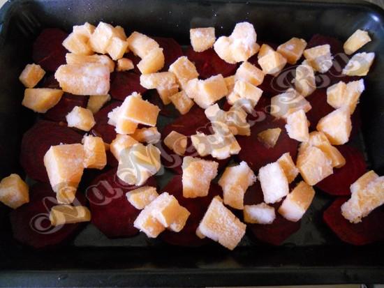 дать на свеклу мясо и куски тыквы
