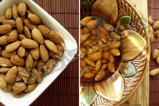 Облить жидкостью орех