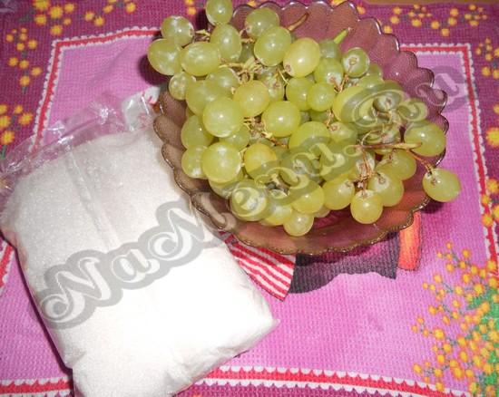 Подготовим продукты для варенья из винограда