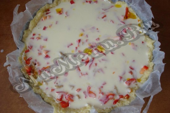 Облить пирог