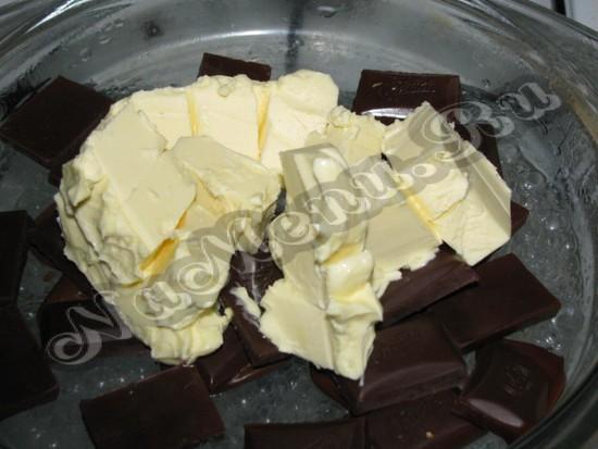 Добавить масло к шоколаду
