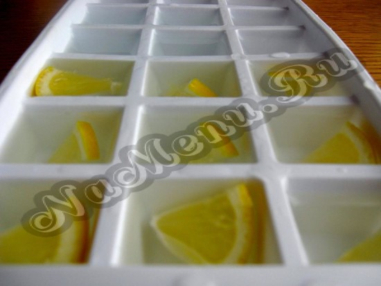 Гасим воду в фигуру с дольками апельсина