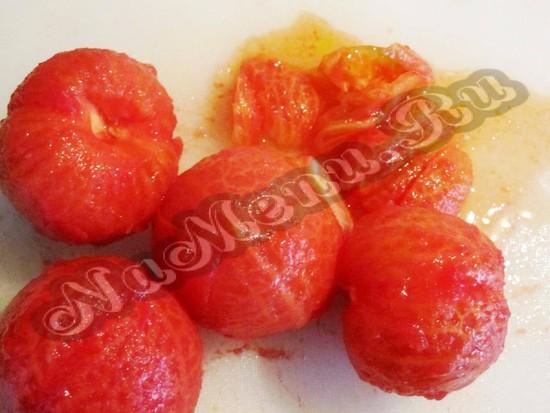 почистить помидоры