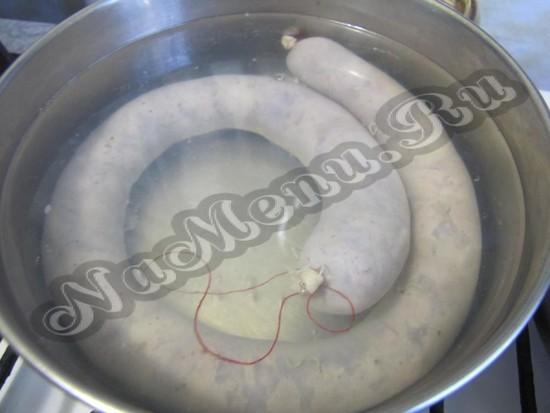 отварить сосиску