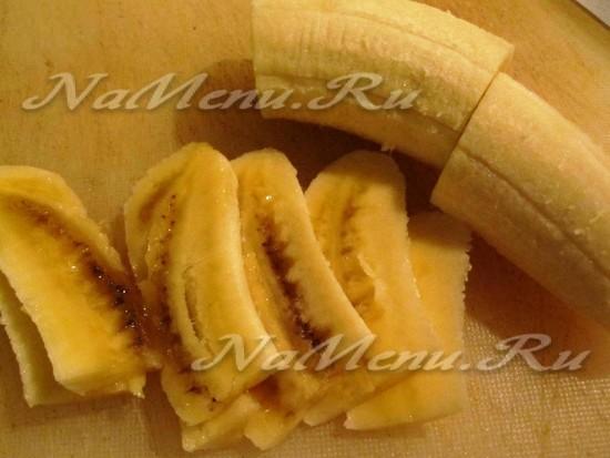 бананы порезать полосами