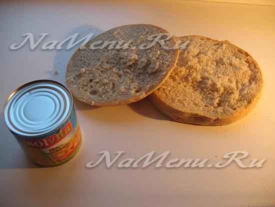Отрезаем куски хлеба