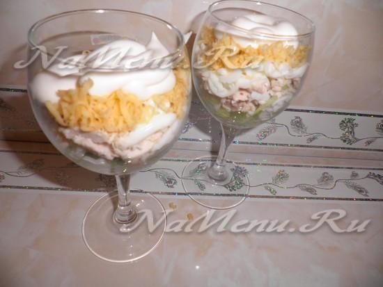 Рождественский салат-коктейль