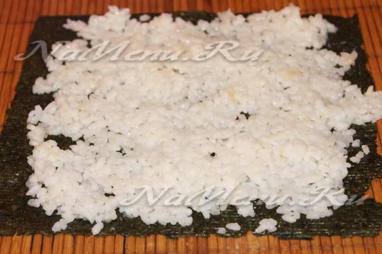 Отдаем рис на нори