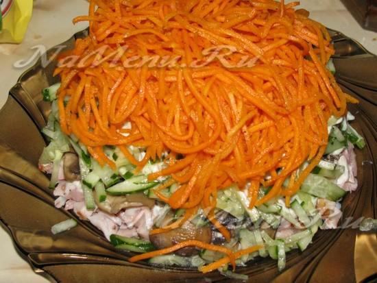 Пласт корейской моркови