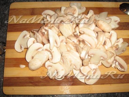 Кромсаем грибы