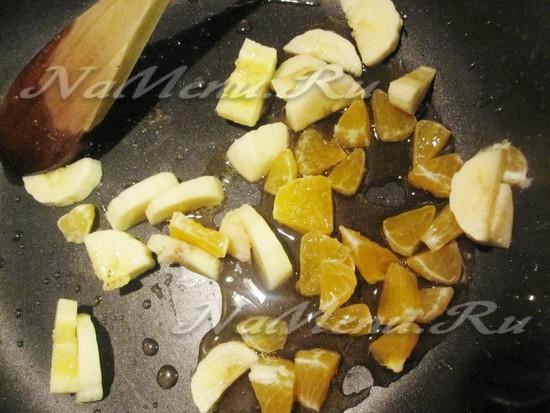 подготовить овощи в карамели