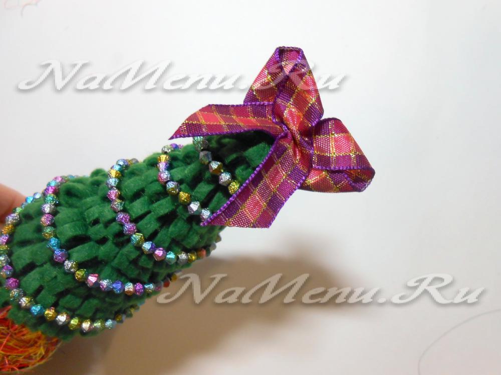 Новогодняя елка из сизали своими руками
