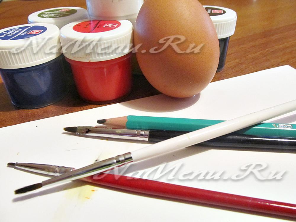 Краски для росписи матрешки