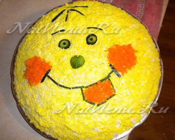 Салаты украшенные ребенку на день рождения