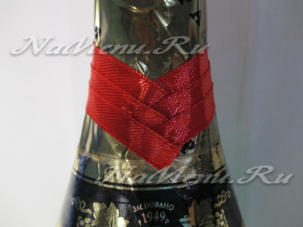 Ленты на шампанское своими руками