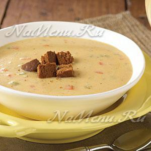 рецепт крем супа пюре из шампиньонов