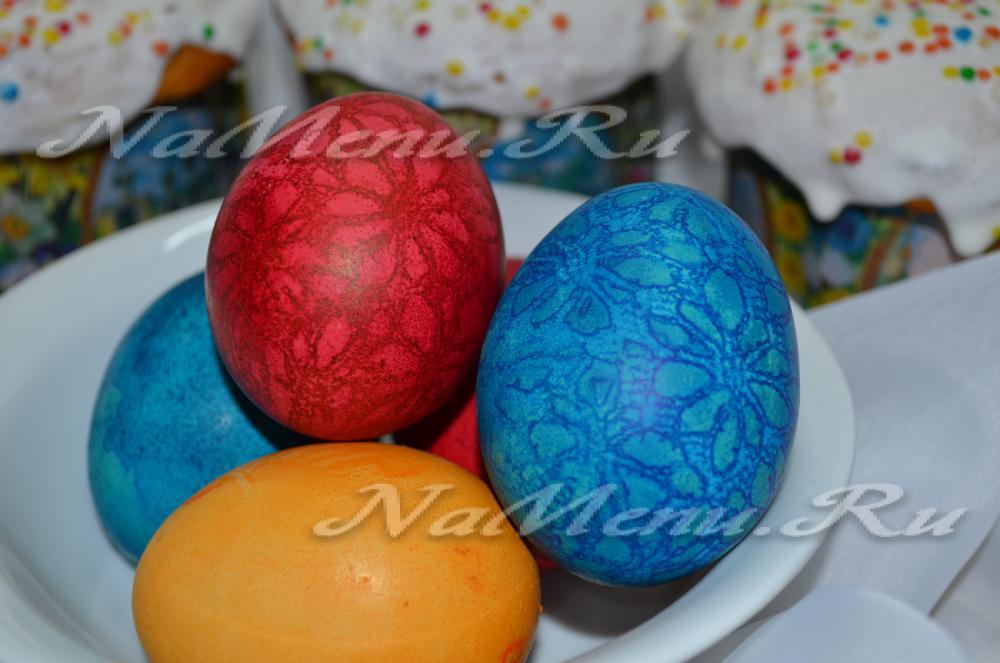 как правильно покрасить яйцп