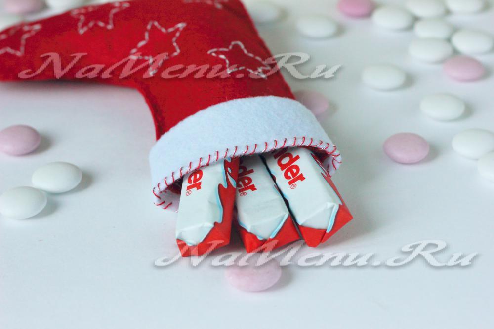 Поделка новогодний сапожок своими руками