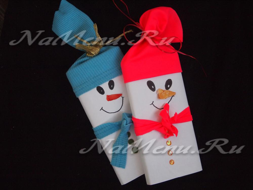 Шоколад снеговик своими руками