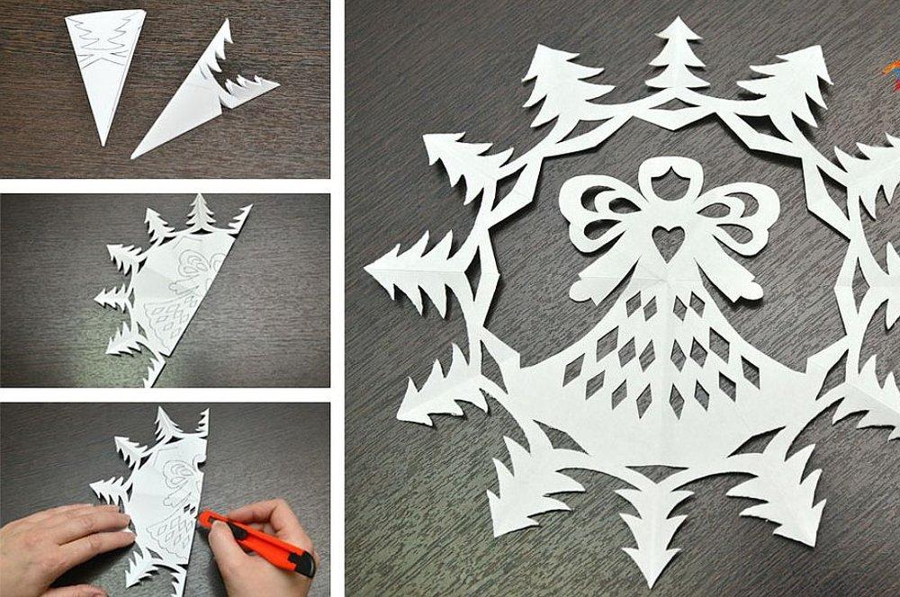 Как сделать красивые снежинки из бумаги своими руками 73
