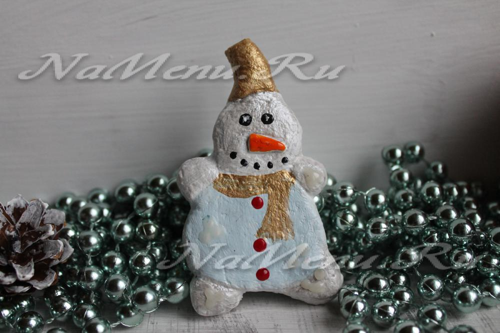 Снеговик из соленого теста своими руками 163