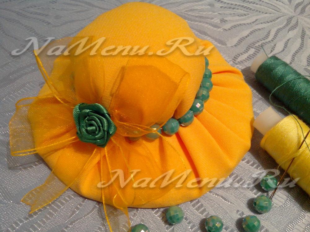 Как сделать шляпку игольница своими руками