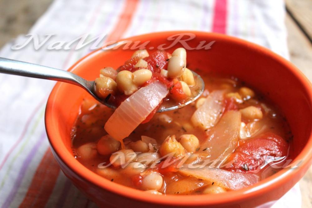 Щи с красной консервированной фасолью рецепт пошаговый