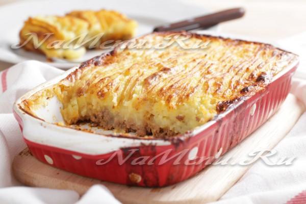 рецепты из мясного фарша и картофеля в духовке