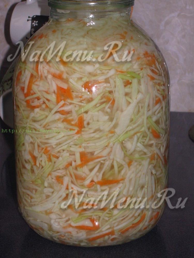 капуста быстрого приготовления большими кусками рецепт с фото