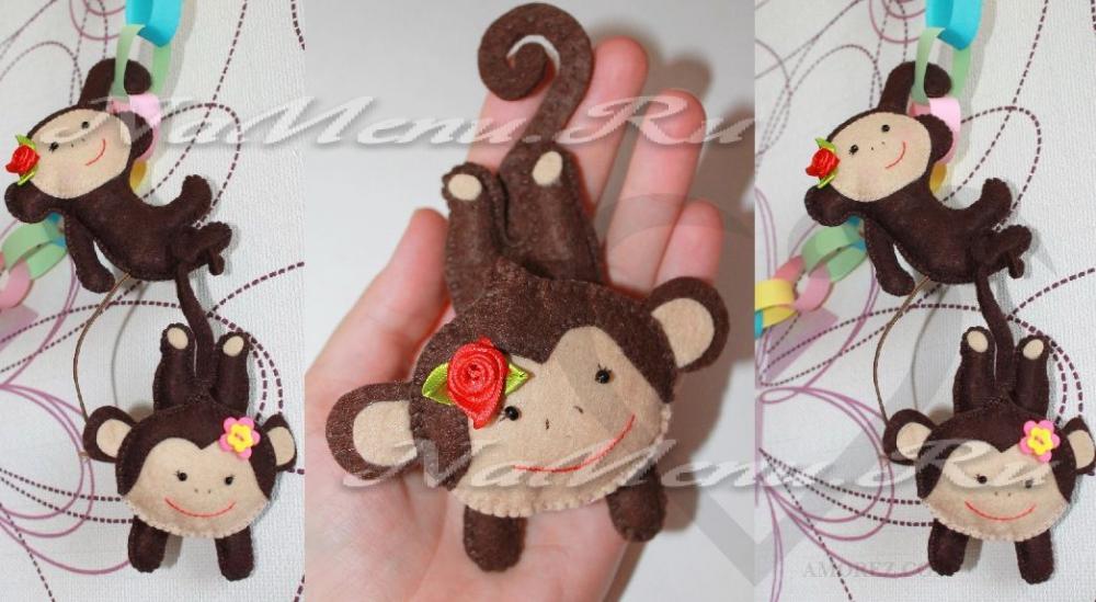 Поделка обезьяны на новый год своими руками из соленого теста