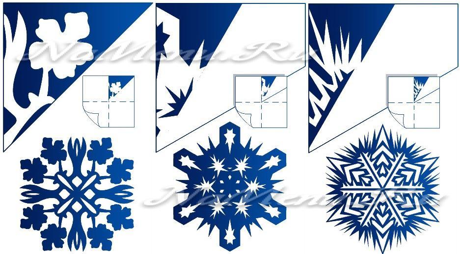 Как нарисовать снежинки из бумаги своими руками