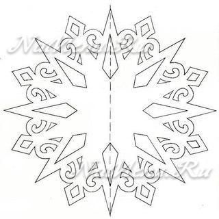 Новогодние снежинки из бумаги своими руками схемы