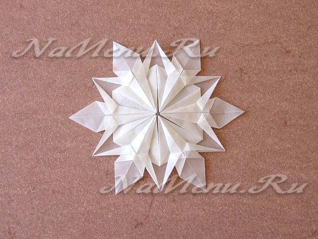 Снежинки из бумаги своими руками схемы пошагово фото 377