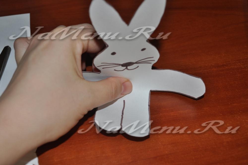 Заяц из бумаги своими руками по деталям 53