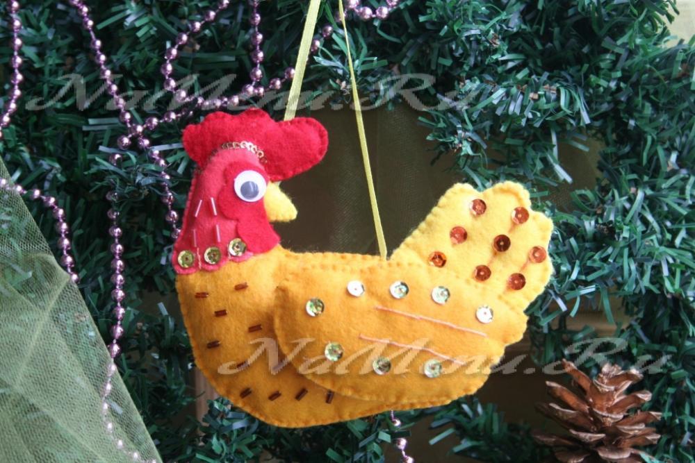Новогодняя игрушка петух своими руками в детском саду