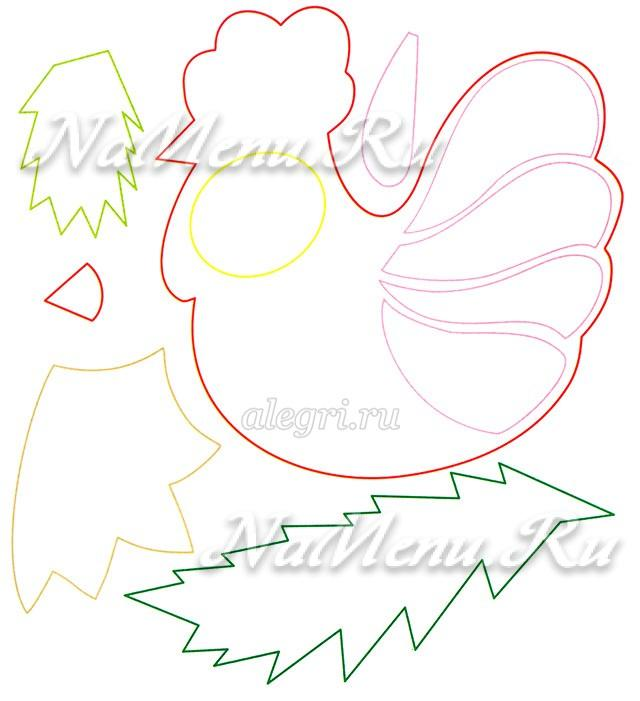 Символ года своими руками для детей петух